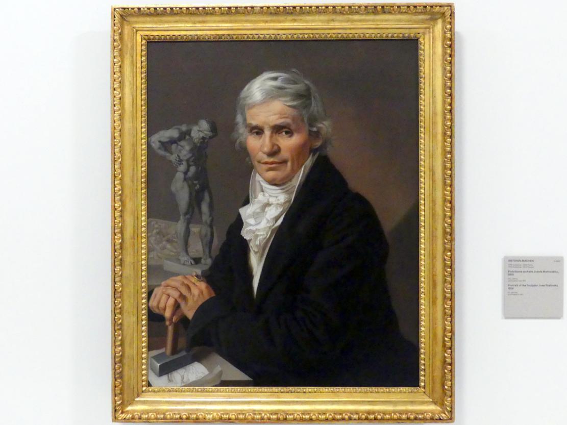 Antonín Machek: Bildnis des Bildhauers Josef Malinský, 1818