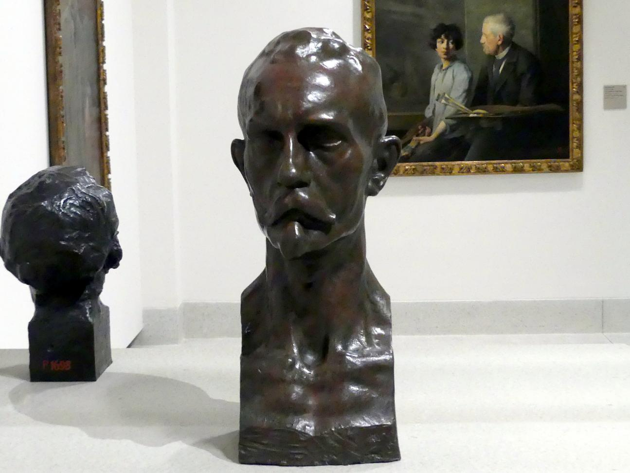 Ivan Meštrović: Büste des Bildhauers Bohumil Kafka, vor 1914