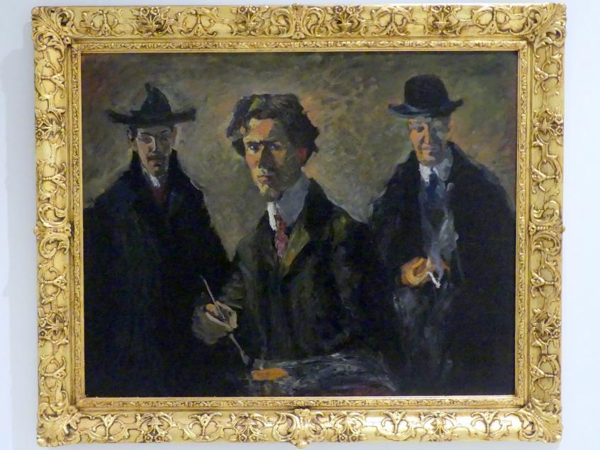 Bohumil Kubišta: Dreierporträt (Friedrich Feigl, Bohumil Kubišta, Emil Artur Longen), 1907