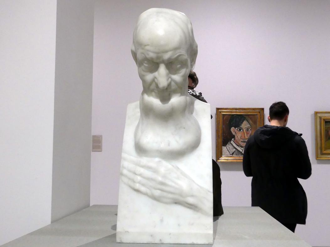 Franz Metzner: Kopf eines alten Mannes (Wilhelm Gerbes), vor 1904