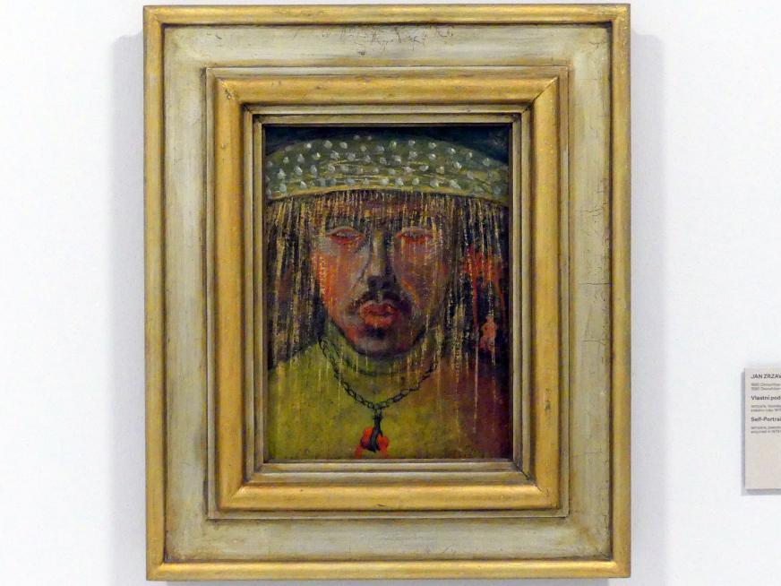 Jan Zrzavý: Selbstporträt I, 1908