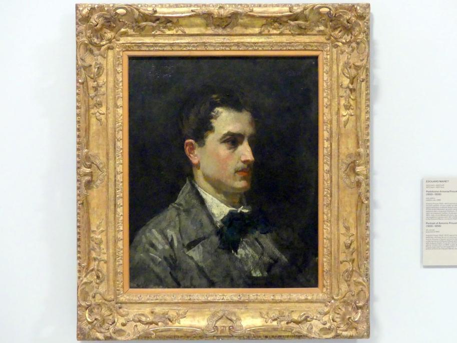 Édouard Manet: Porträt von Antonio Proust, 1855 - 1856