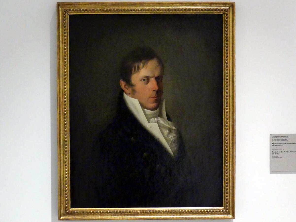 Antonín Machek: Porträt des Malers Antonín Mánes, um 1825