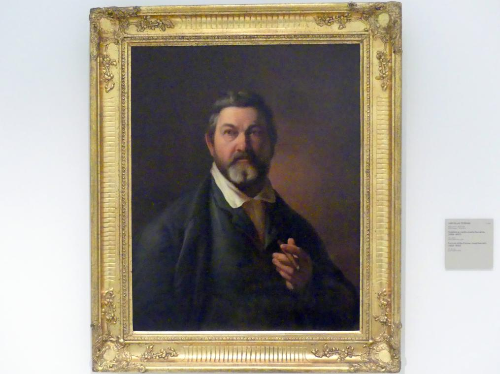 Jaroslav Čermák: Porträt des Malers Josef Navrátil, 1852 - 1853