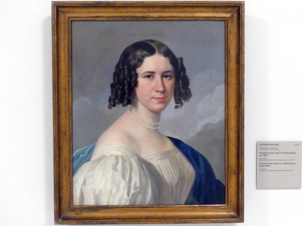 Antonín Machek: Bildnis von Henrietta von Rittersberg, nach 1827