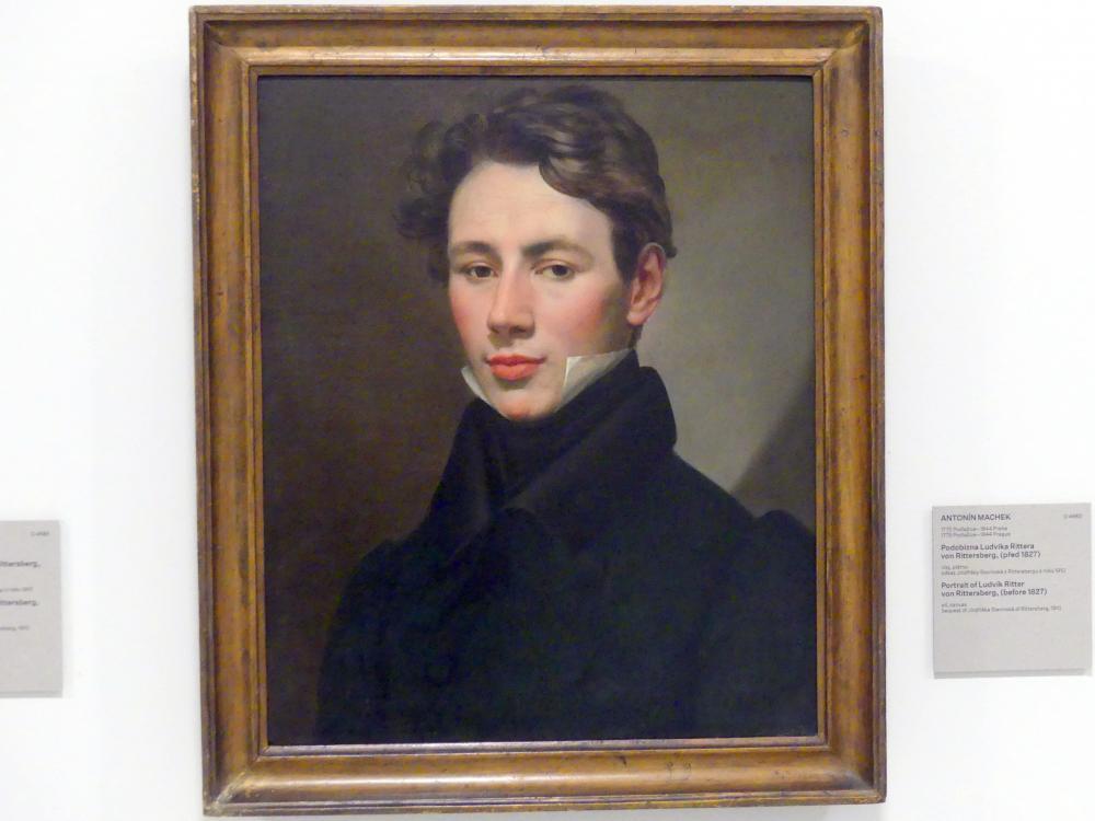 Antonín Machek: Bildnis von Ludwig Ritter von Rittersberg, vor 1827