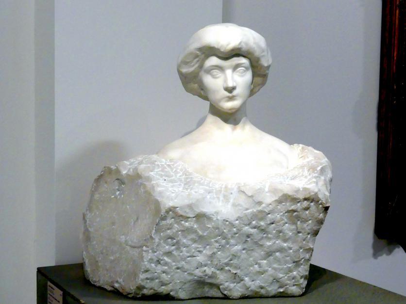 Josef Mařatka: Büste Tereza Koseová, 1909