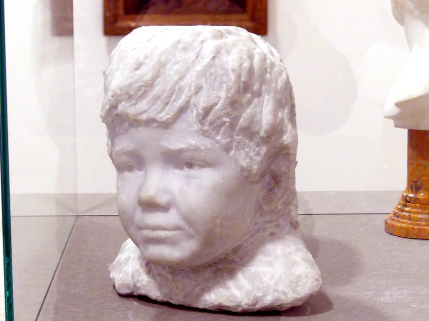 František Bílek: Büste des Künstlers Sohn, 1909