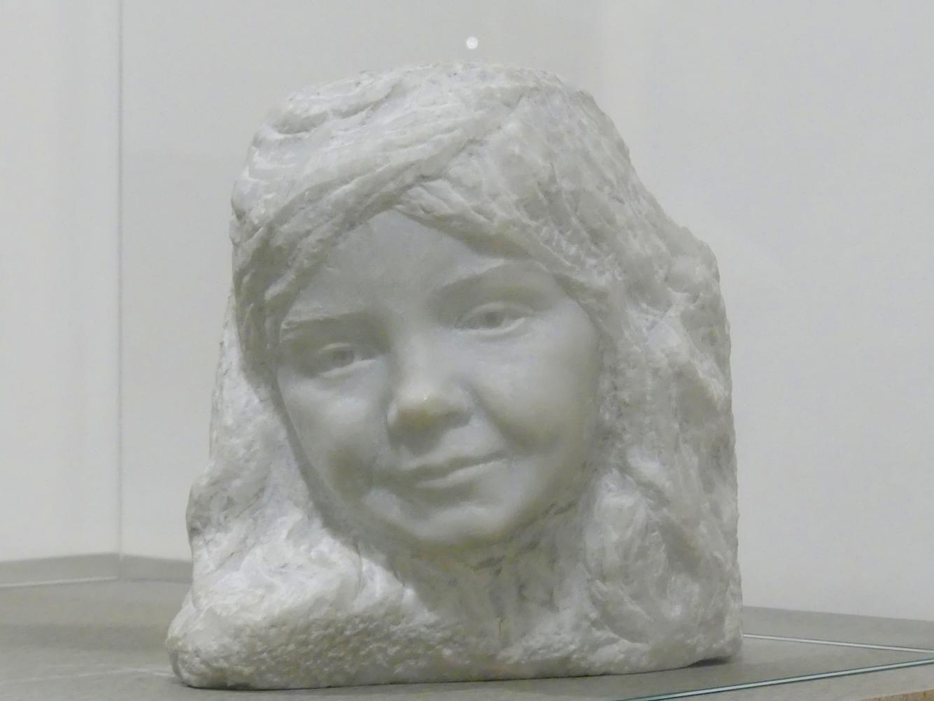 František Bílek: Büste des Künstlers Tochter, 1909
