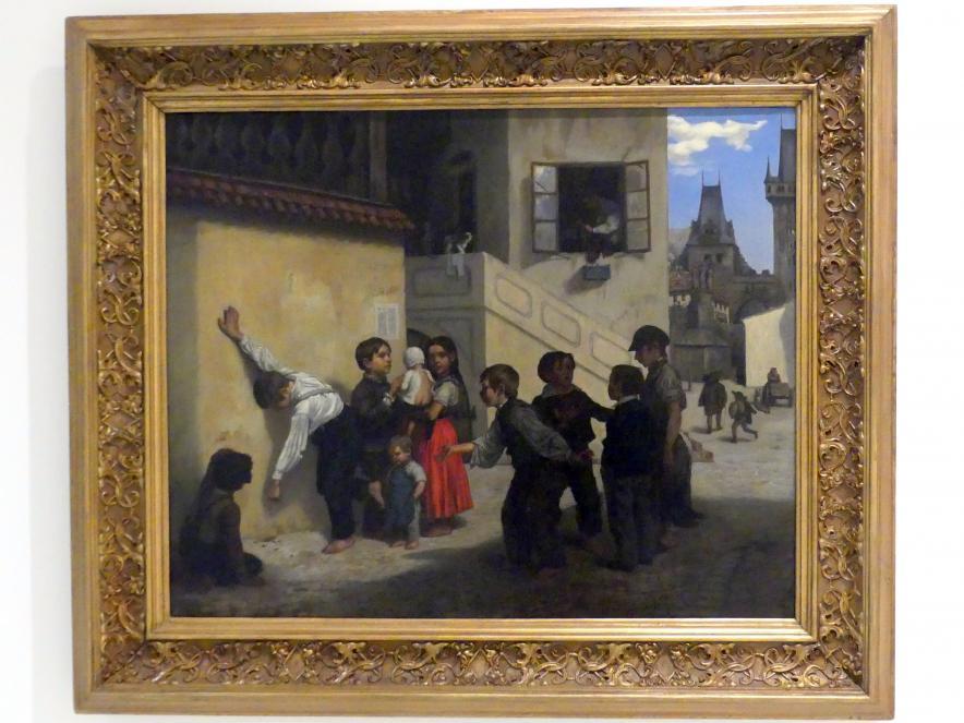 Soběslav Pinkas: Kinder spielen auf der Insel Kampa (Prager Bengel), 1854