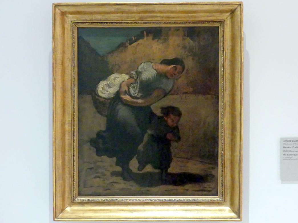 Honoré Daumier: Die Last (Wäscherin), 1853