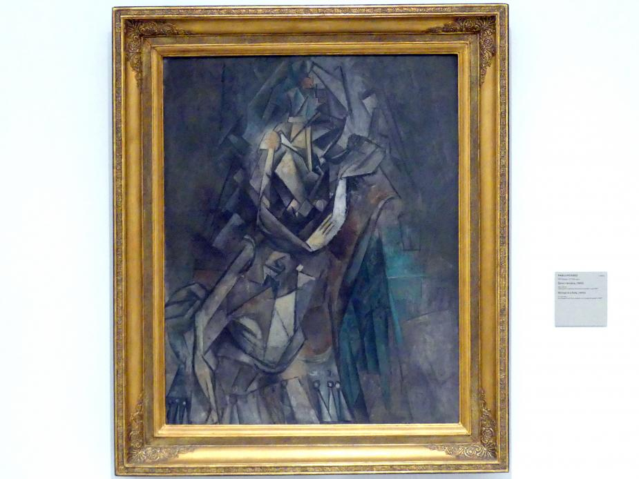 Pablo Picasso: Frau auf einem Sofa, 1910