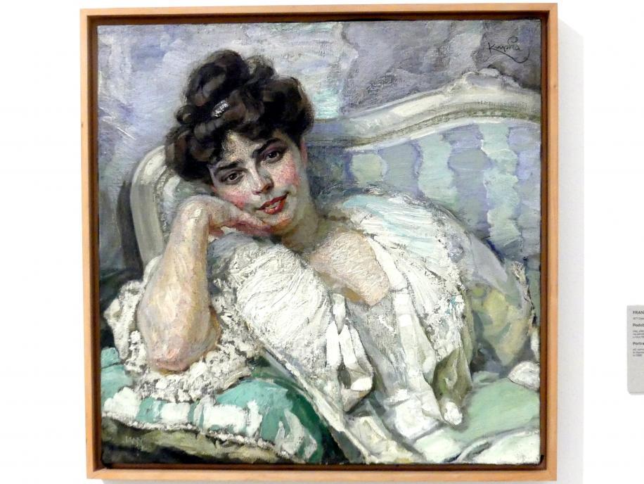 František Kupka: Bildnis der Frau des Künstlers II, 1905
