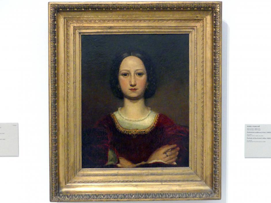 Karel Purkyně: Bildnis der Frau des Künstlers, 1860