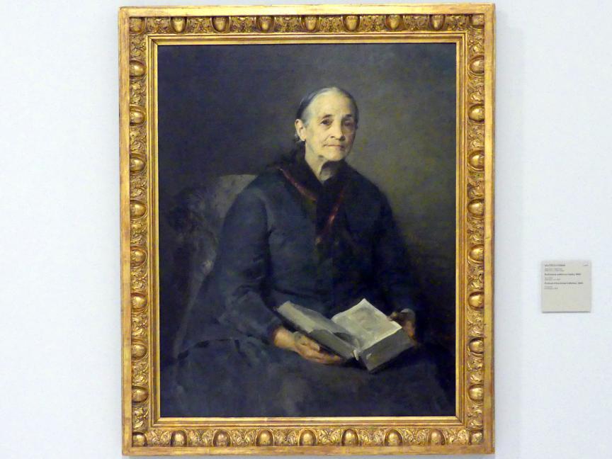 Vojtěch Hynais: Bildnis der Mutter des Künstlers, 1883