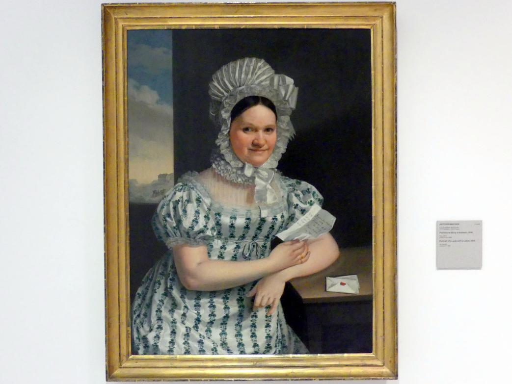 Antonín Machek: Bildnis einer Frau mit Brief, 1816