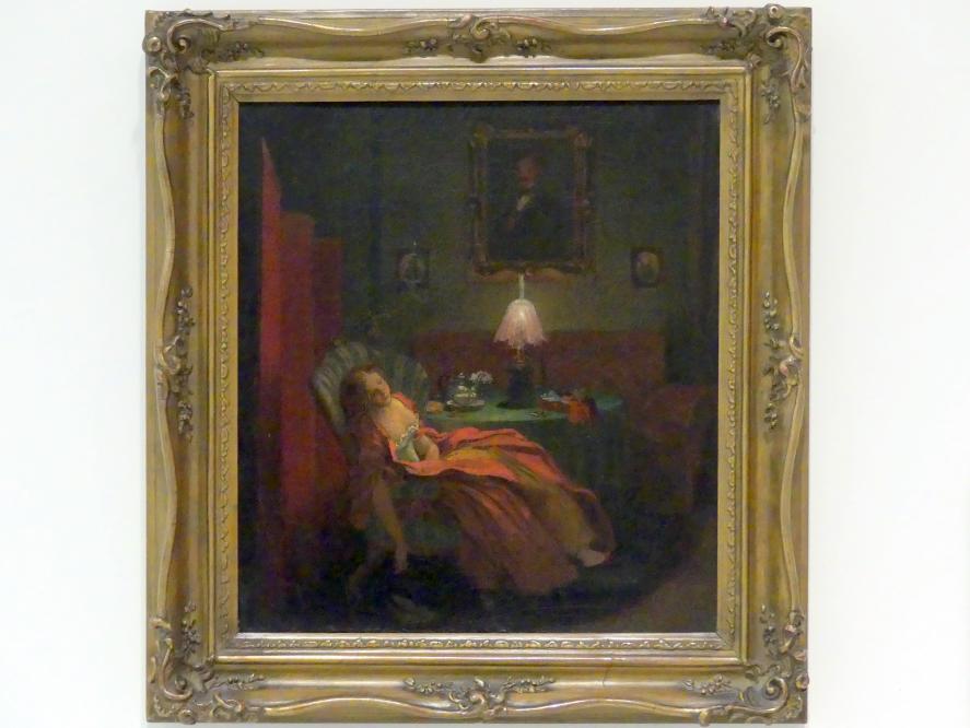Josef Mánes: Beim Lesen, um 1850 - 1853