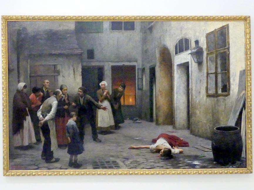 Jakub Schikaneder: Mörder im Haus, 1890