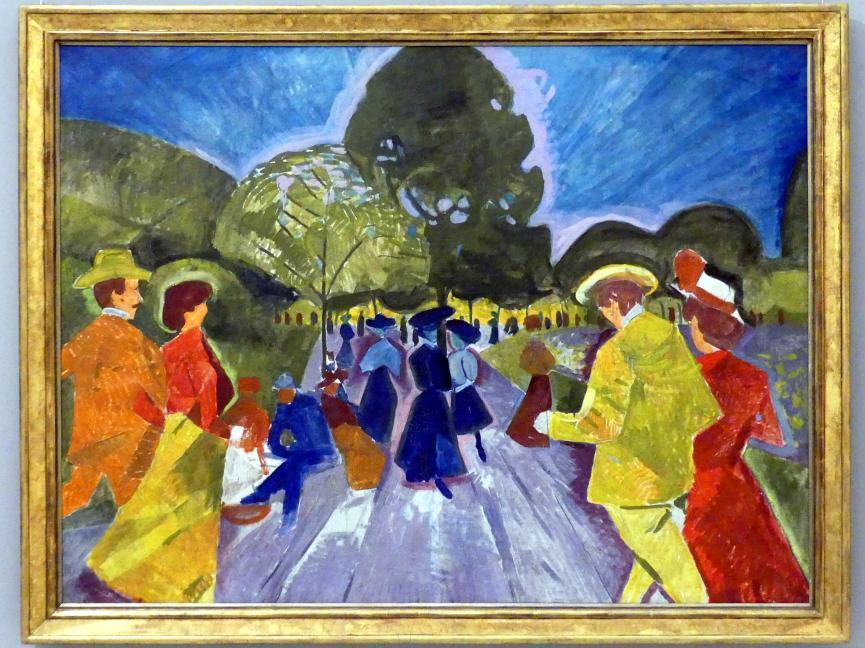 Bohumil Kubišta: Promenade in den Rieger Gärten, 1907