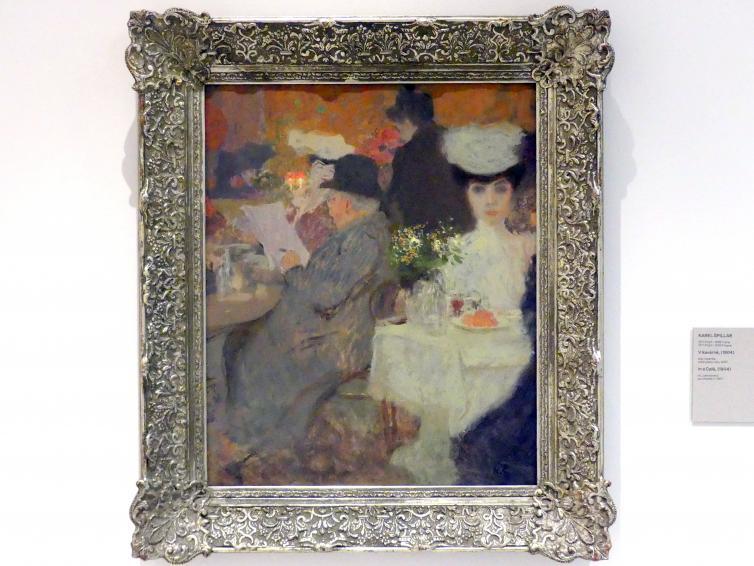 Karel Špillar: Im Café, 1904