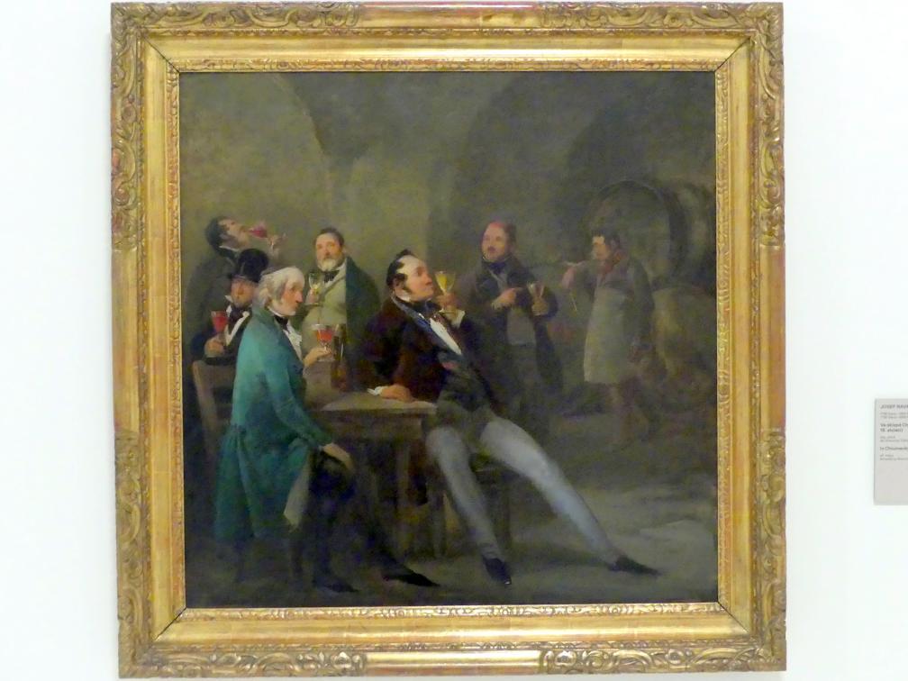 Josef Navrátil: In Chlumeckýs Weinkeller, um 1850 - 1860