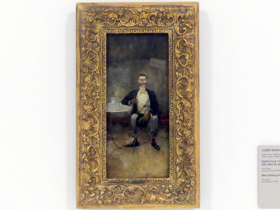 Luděk Marold: Mann im Café sitzend, um 1890 - 1900