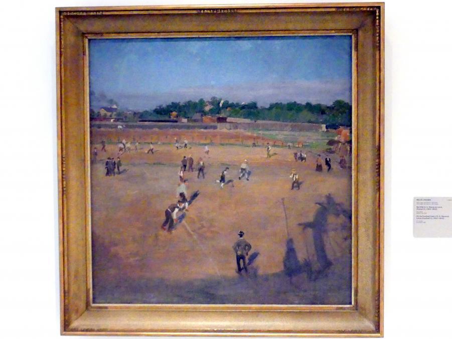 Miloš Jiránek: Auf dem Fußballplatz des SK Slavia Prag bei Letná (Fußball V), 1901 - 1902