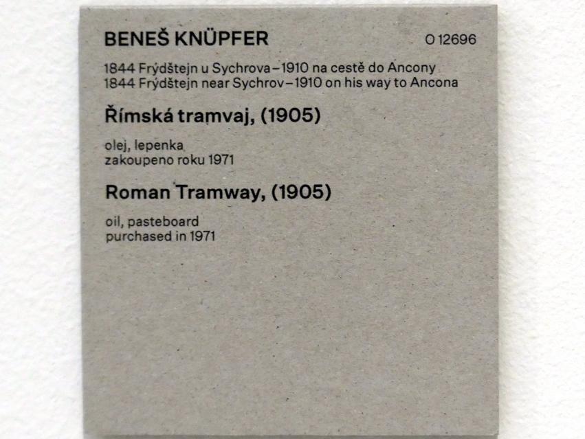 Beneš Knüpfer: Römische Straßenbahn, 1905, Bild 2/2