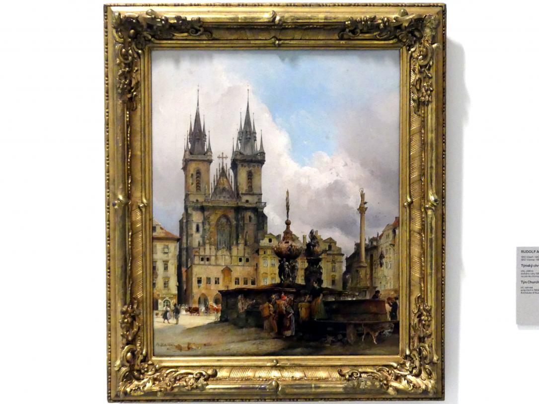 Rudolf von Alt: Teynkirche mit dem Krocin-Brunnen, 1843