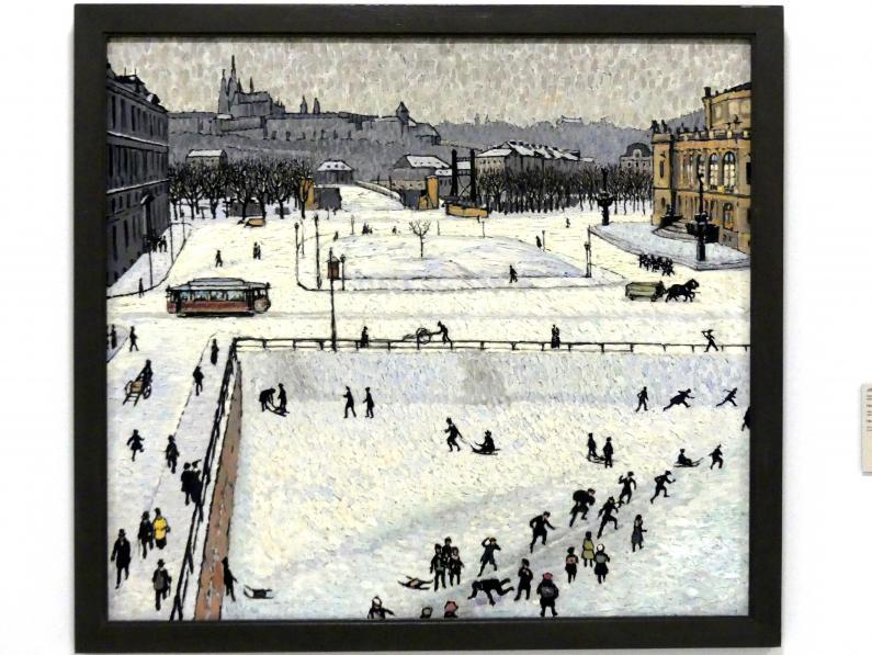 Georg Jilovsky: Hradčany im Winter, vor 1914