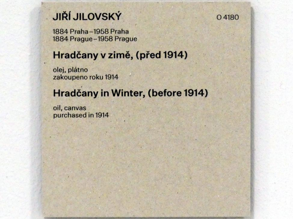 Georg Jilovsky: Hradčany im Winter, vor 1914, Bild 2/2