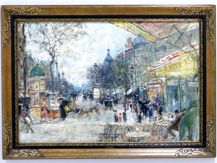 Jan Šafařík: Boulevard des Italiens in Paris, 1914