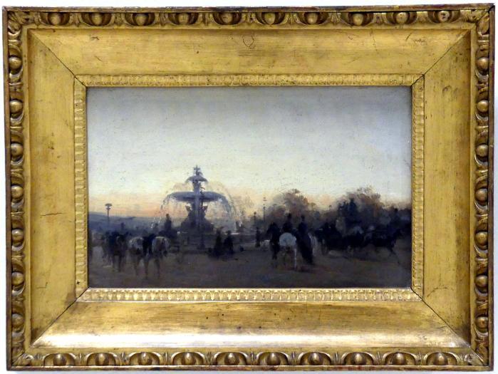 Viktor Barvitius: Place de la Concorde in Paris, Studie, 1866