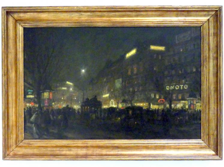 Tavík František Šimon: Grands Boulevards in Paris, 1911
