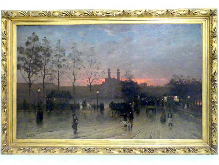 Antonín Chittussi: Trocadéro in Paris (Quais de Paris, Quai de la Conférence), 1881