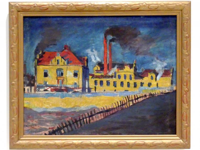 Bohumil Kubišta: Fabrik, 1908