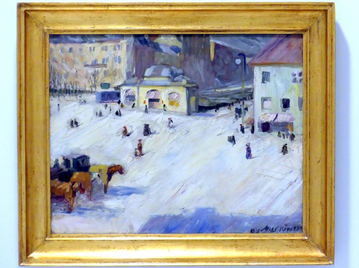 Max Horb: Platz in München, 1907
