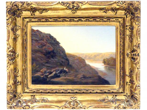 Amalie Mánesová: Landschaft mit Figur, 1843, Bild 1/2