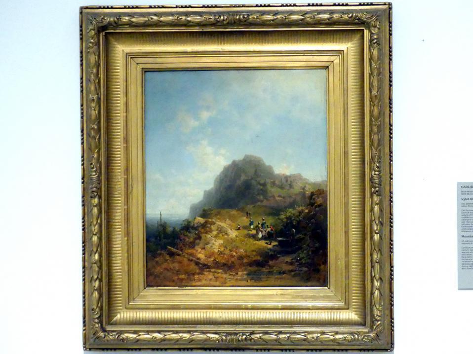 Carl Spitzweg: Bergtour, um 1870