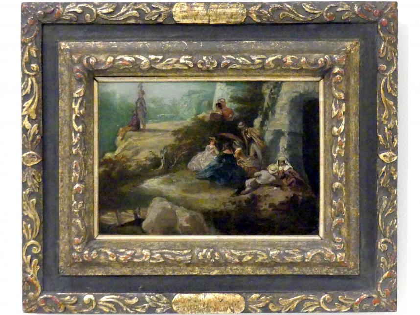 Josef Mánes: Beim Ausflug III, 1851