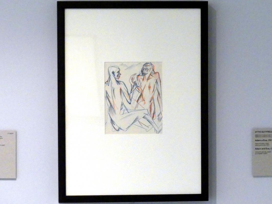 Otto Gutfreund: Adam und Eva, 1911 - 1912