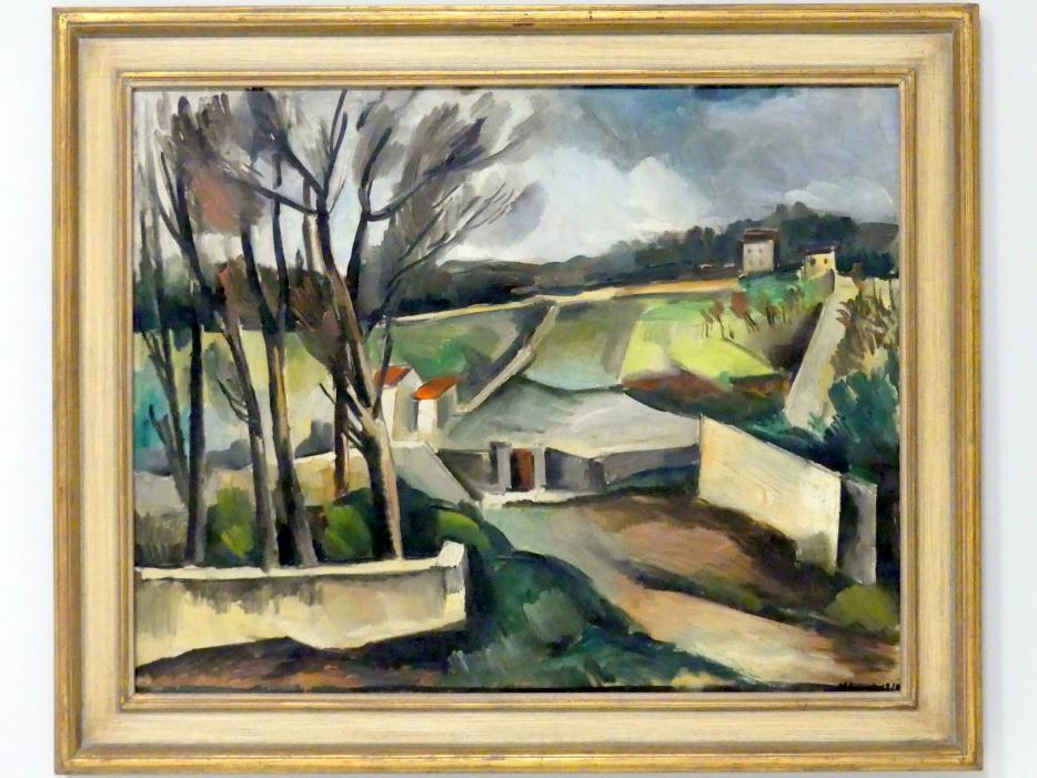 Maurice de Vlaminck: Landschaft mit Pappeln, 1914