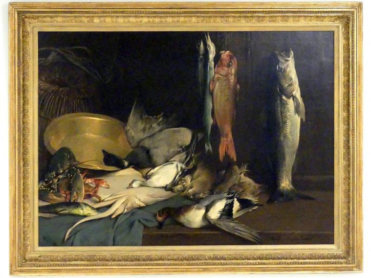 Jaroslav Čermák: Souvenirs aus Roscoff (Stillleben mit Fisch), 1873