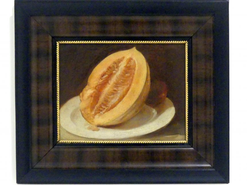 Josef Navrátil: Halbierte Melone, um 1850 - 1860