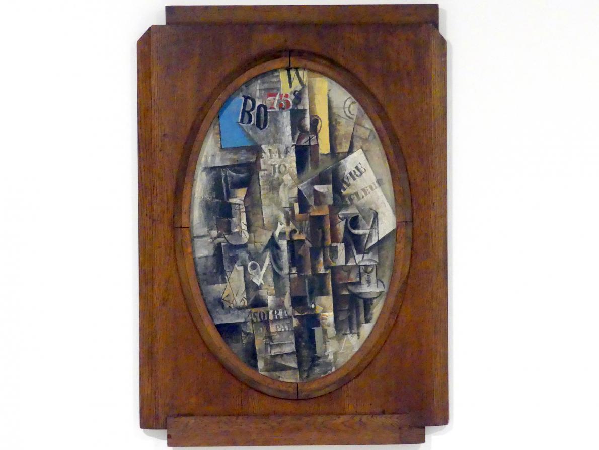 Pablo Picasso: Violine, Glas, Pfeife und Anker: Souvenirs aus Le Havre, 1912