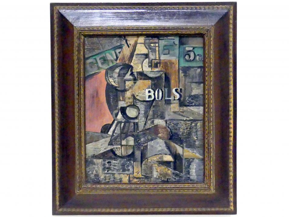 Emil Filla: Flasche Bols, 1915