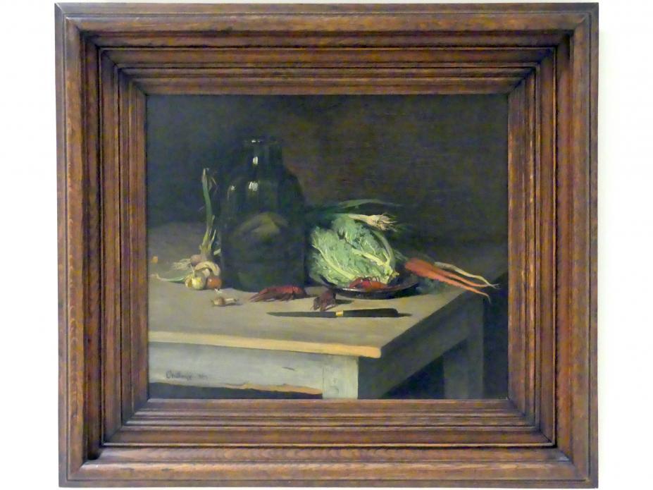Antonín Chittussi: Stillleben mit Gemüse und Flusskrebsen, 1887