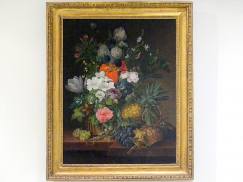 Johanna Salm-Reifferscheidt (Jenny Salmová): Stillleben mit Eidechse und Blumen, 1826