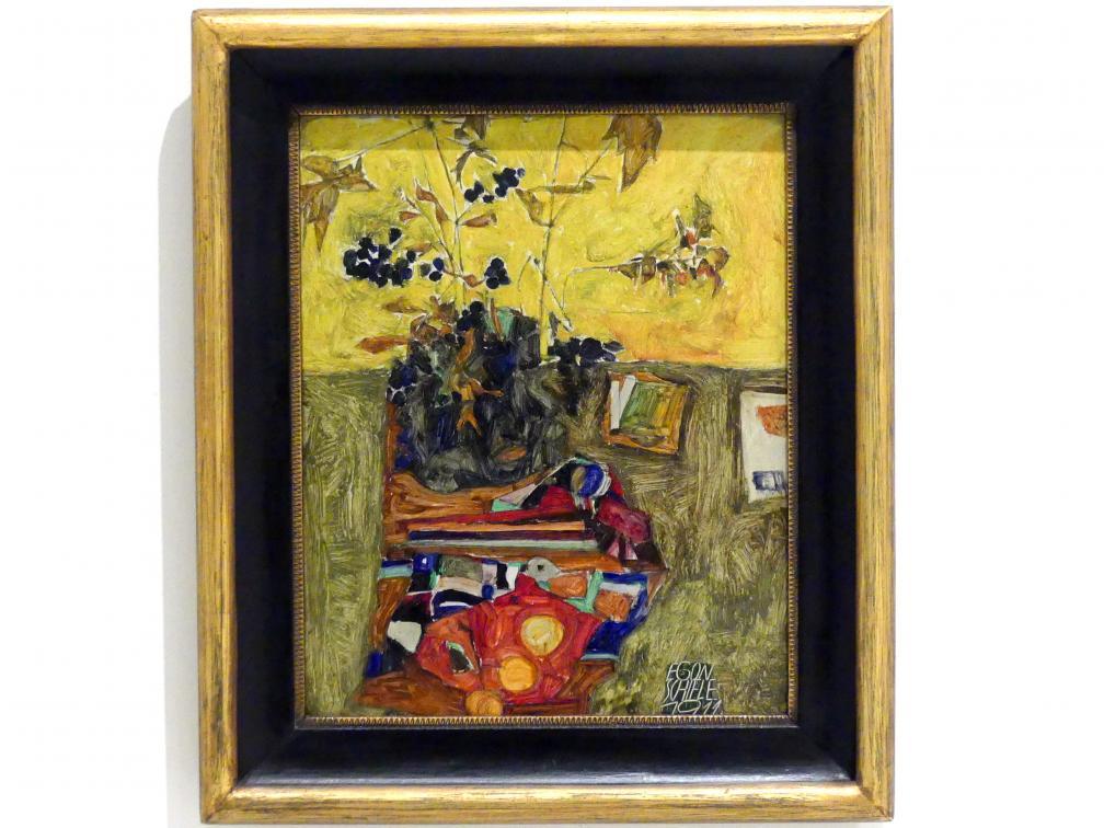 Egon Schiele: Stillleben mit Blumen, 1911