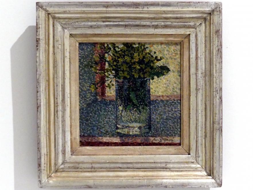 Jan Zrzavý: Blumen am Fenster (Stillleben mit Glas), 1907